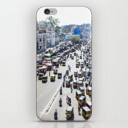 View of the Busy Roads from the Charminar in India iPhone Skin