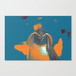 Penguin Rockhopper Canvas Print