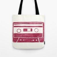 cassette Tote Bags featuring Cassette by Brita A