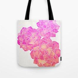 Rosette Succulents – Pink Palette Tote Bag
