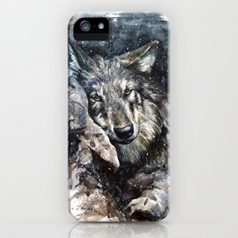Wolf life iPhone Case