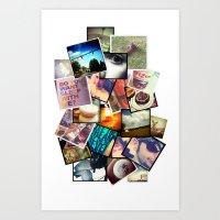 instagram Art Prints featuring Instagram  by Nic Moore