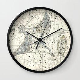 Constellations Lacerta, Cygnus, Lyra Celestial Atlas Plate 11 - Alexander Jamieson Wall Clock