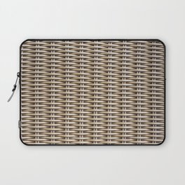 Closeup rattan wickerwork texture Laptop Sleeve