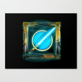 Blue Lightsaber Special - Golden Jedi Series Canvas Print