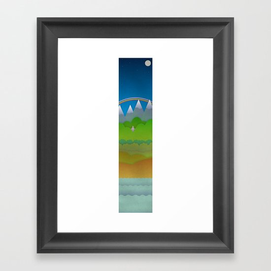 Over and Under the Rainbow Framed Art Print
