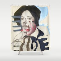 matisse Shower Curtains featuring Composition 480 by Chad Wys