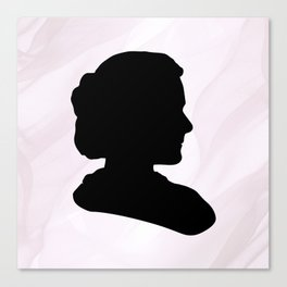 Marie Curie Scientist Silhouette Canvas Print
