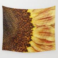 fibonacci Wall Tapestries featuring Sunflower by ThePhotoGuyDarren