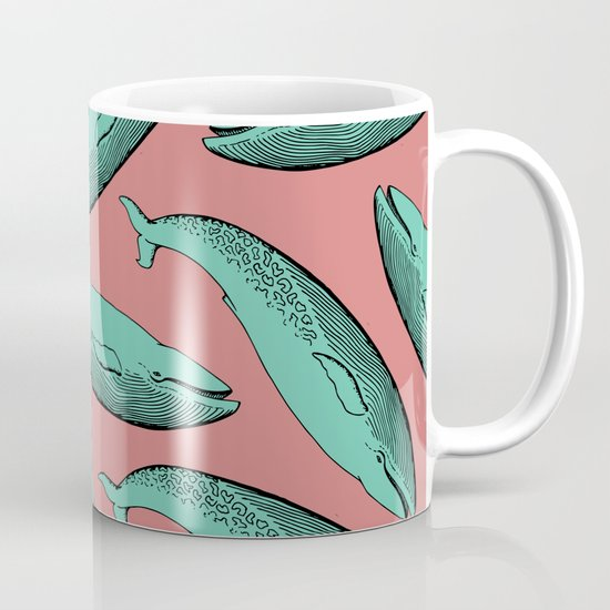 calm whale pattern Coffee Mug