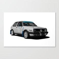 Golf rallycar Canvas Print