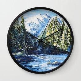 Landscape - The blue glacier - by LiliFlore Wall Clock