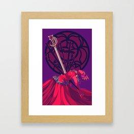 though the fear keeps me moving, still my heart beats so slow... [utena] Framed Art Print