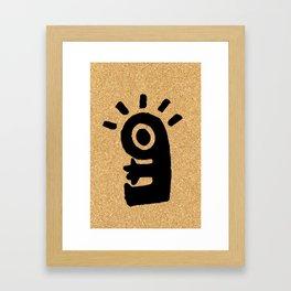 cork paper character Framed Art Print