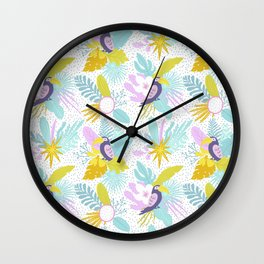 Colorful Toucans Chill Out Wall Clock