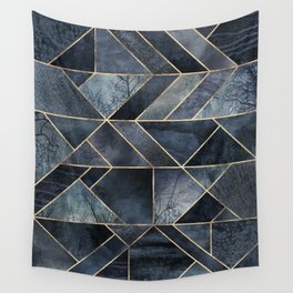 Abstract Nature - Dark Blue Wall Tapestry