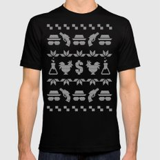 A White Christmas Mens Fitted Tee Black MEDIUM