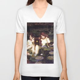 HYLAS AND THE NYMPHS - WATERHOUSE Unisex V-Neck