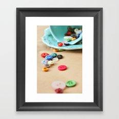 Buttons and Teacups 2 Framed Art Print