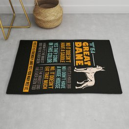 Great Dane Dog Puppy Gift for Dog Lovers & Owners Rug