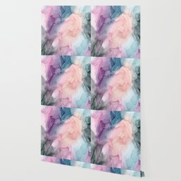 Dark and Pastel Ethereal- Original Fluid Art Painting Wallpaper