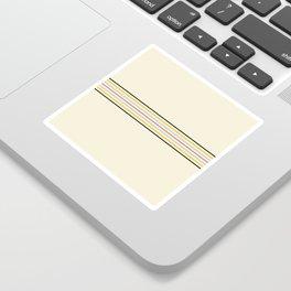 Classic Fine Retro Stripes Sticker