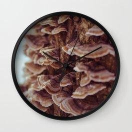 Tree Mushrooms Wall Clock