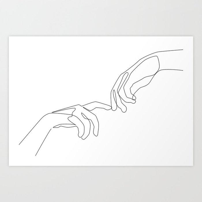 Finger touch Art Print