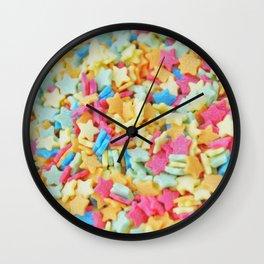 Sugar Stars Wall Clock