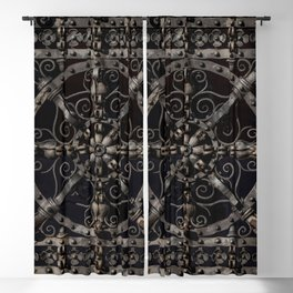 Pretty ornamented gate Blackout Curtain
