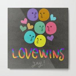 #lovewins Metal Print