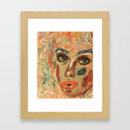 Tangled Eyes #originalart #feministart Framed Art Print