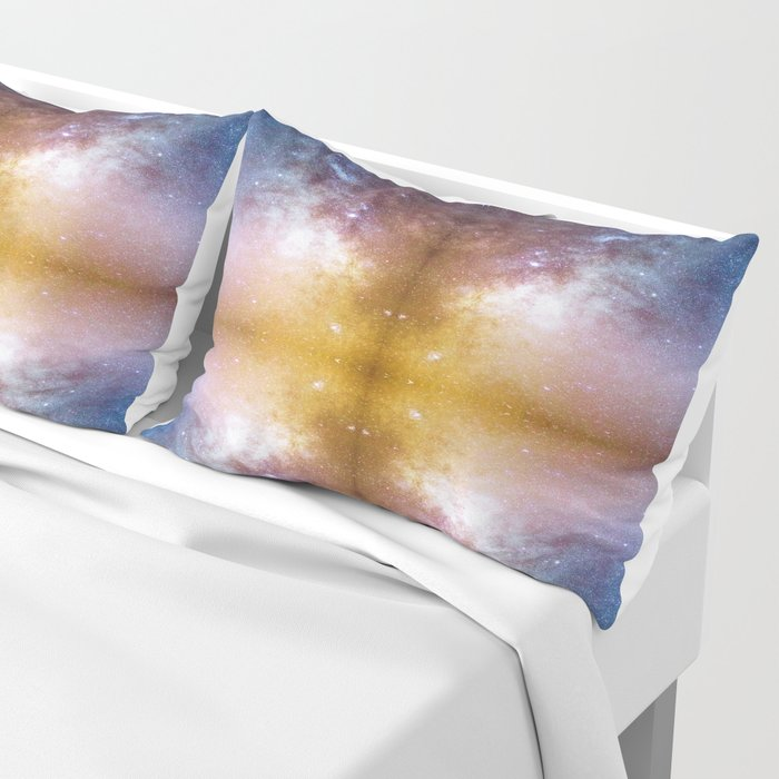 A mirrored  night sky photo Pillow Sham