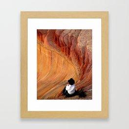 Sitting In Solitude Framed Art Print