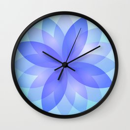 Abstract Lotus Flower G303 Wall Clock