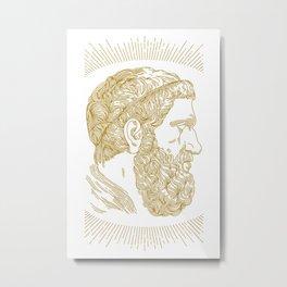 Holy Beard Metal Print