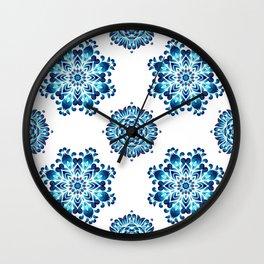 Round colorful mandala seamless pattern Wall Clock