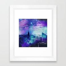 New York Night Framed Art Print