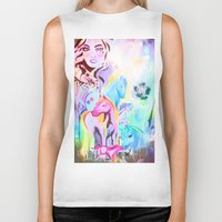 carousel Biker Tanks featuring carousel by Charlie L'amour