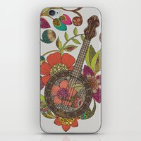 banjo iPhone & iPod Skins featuring Ever Banjo by Valentina Harper