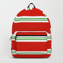 Christmas Stripes #1 Backpack
