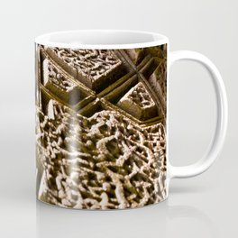 Photograph Earthy Brown Clay Star Pattern Islamic Architecture Detail Coffee Mug