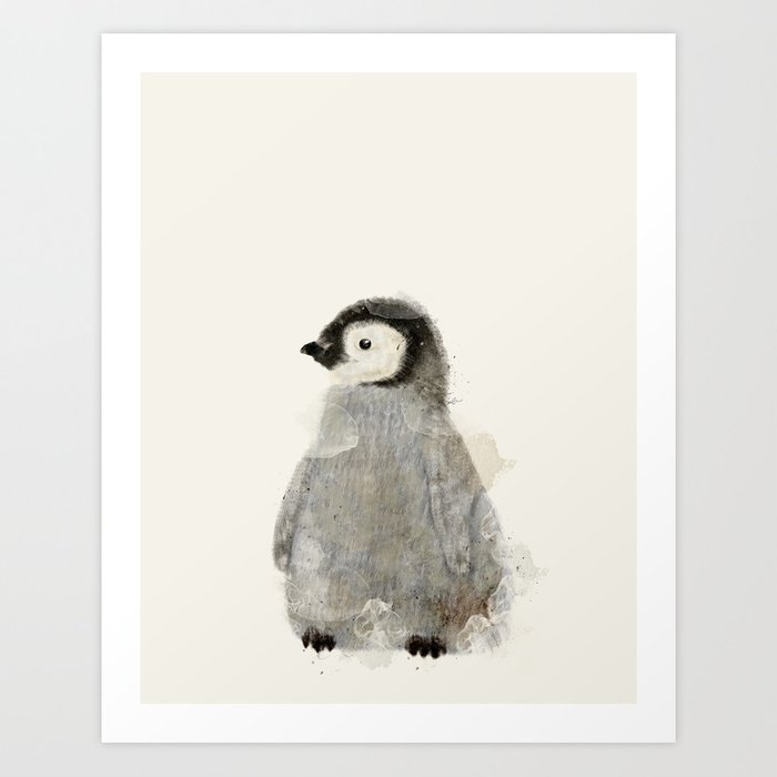 Little Penguin Art Print By Bribuckley Society6