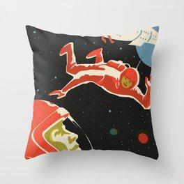 Space Man Vintage Throw Pillow