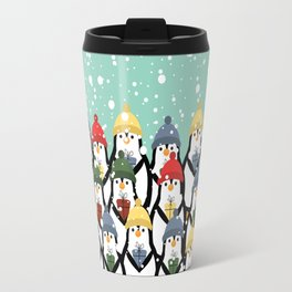 Christmas penguins Travel Mug