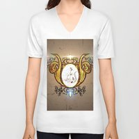 music notes V-neck T-shirts featuring Key notes  by nicky2342
