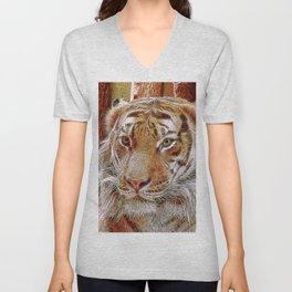 Extraordinary Animals - Tiger 2 Unisex V-Neck
