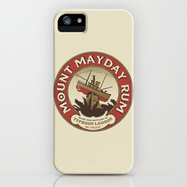Mount Mayday Rum iPhone Case