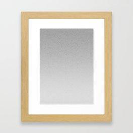 Concrete Dot Gradient Framed Art Print