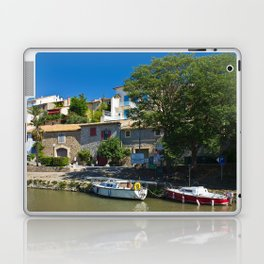 old houses on the canal du midi, france 3 Laptop & iPad Skin